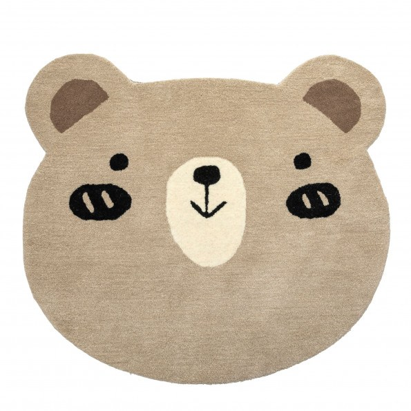 Tiny Republic bamse gulvtæppe, Charlie - Brun/Beige