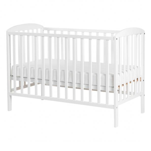 Tiny Republic tremmeseng Huxi 120x60 cm. hvid + Baby Dan Airlux madras