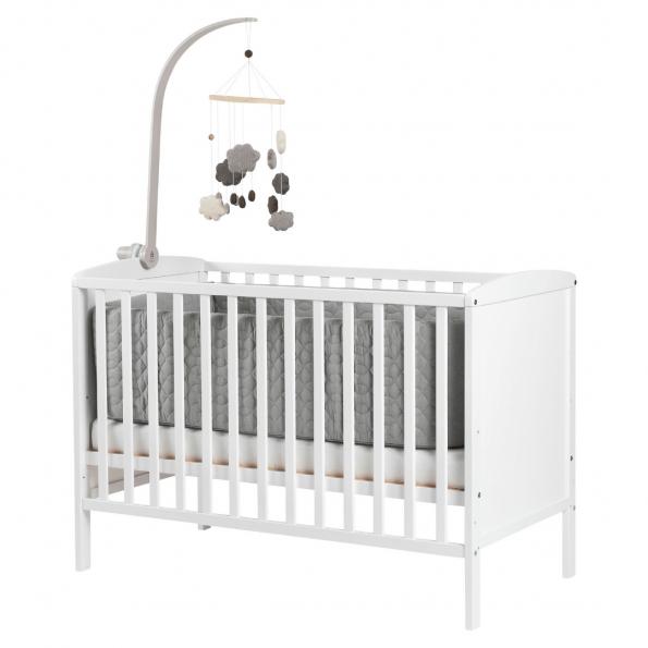 Tiny Republic tremmeseng Nora hvid 120x60 cm. + Neonate 5800 babyalarm