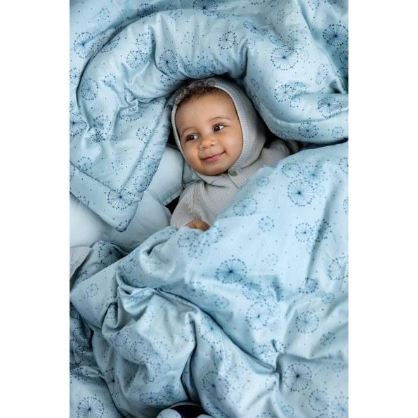Cam Cam babysengetøj 70x100 cm  - dandelion petrol