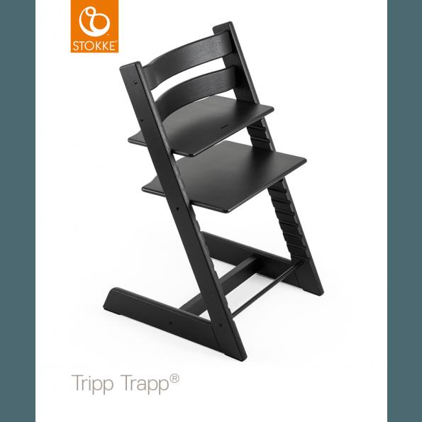 Tripp Trapp Stol i egetræ - sort