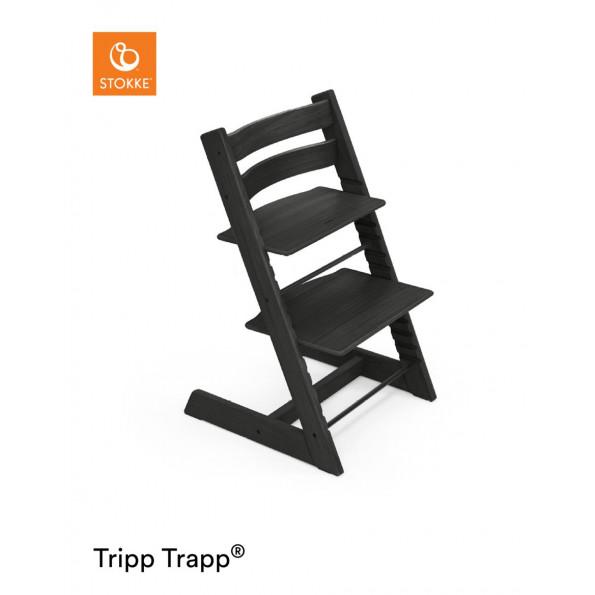 Tripp Trapp højstol i egetræ - sort