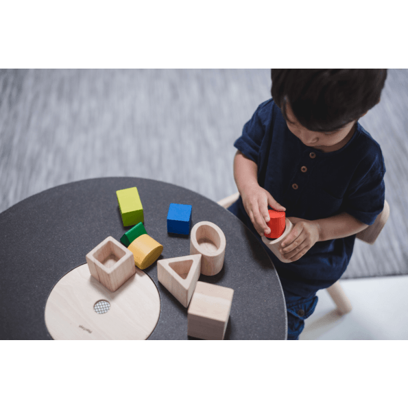 PlanToys rundt bord - sort