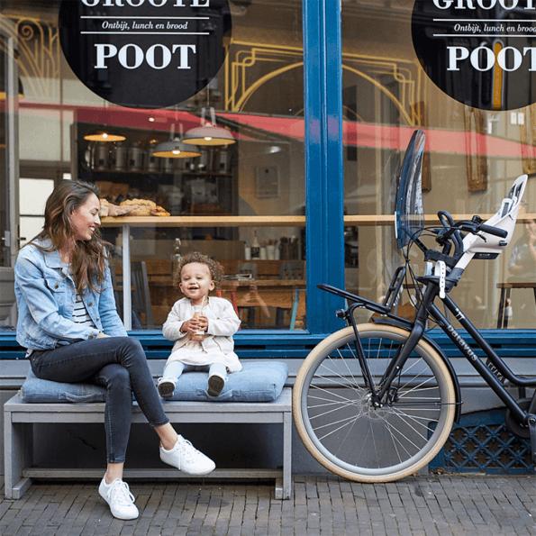 Urban Iki håndtag til cykelstol foran - sort