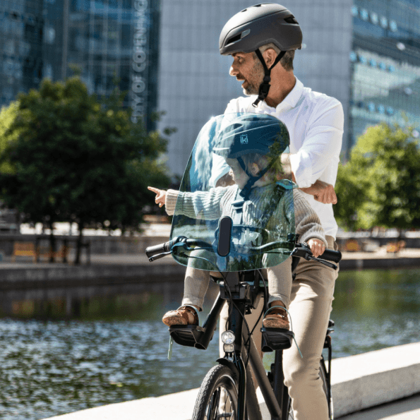 Urban Iki vindskærm til cykelstol foran - grøn