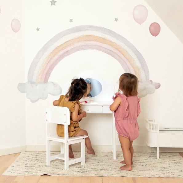 That's Mine Rainbow & Clouds wallsticker