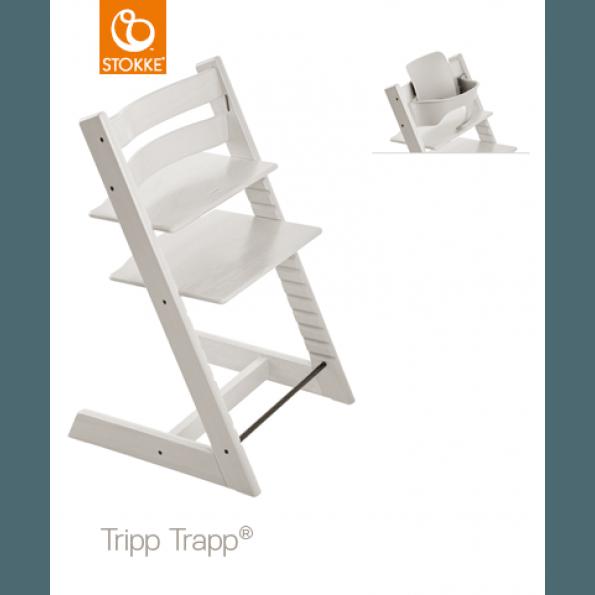 Tripp Trapp Højstol Whitewash + Babysæt White