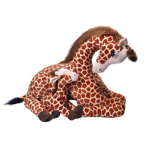 Wild Republic mor og baby giraf bamse 76 cm