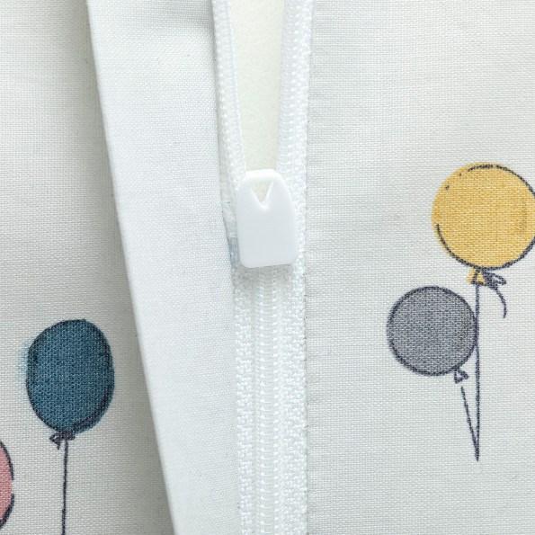 Tiny Republic puslepude med ballon print - Hvid
