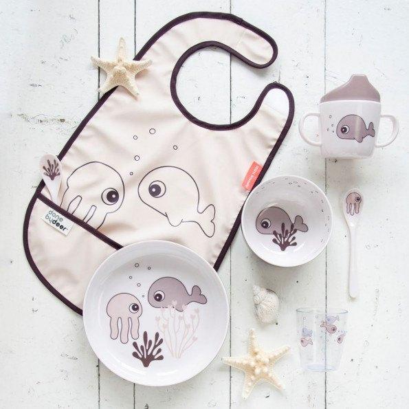 Done by Deer Yummy Mini Skål Sea friends - Pudder