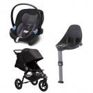 Cybex Aton M i-size autostol Premium black m. base  + Baby Jogger City Elite - sort