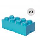 LEGO Opbevaringskasse 8 - Azurblåx3
