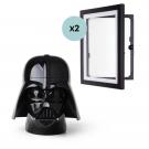 Opbevaringshoved - Darth Vader Star Wars, Str. L Inkl. My Little Davinci A4 Ramme - Sort, 2stk
