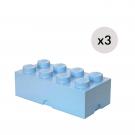 LEGO Opbevaringskasse 8 - Lyseblåx3