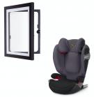 Cybex Solution S-fix autostol Premium black + DaVinci ramme A4 sort