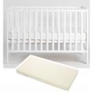 Tiny Republic tremmesend Sofie 120x60 cm. hvid + Baby dan Airlux madras