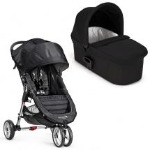 Baby Jogger City Mini Single black/grey klapvogn med Deluxe pram sort