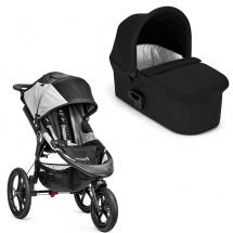 Baby Jogger Summit X3 black/grey løbevogn med Deluxe pram sort