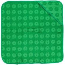 Småfolk Baby håndklæde med Æbler - Apple green