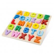 New Classic Toys Alfabet Puslespil +24 mdr - regnbuens farver