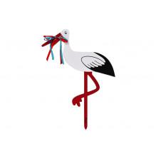 Magni Stork i træ - Stor, 80 cm.