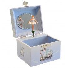 Magni svane smykkeskrin - lyseblå