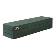 By KlipKlap 3 Fold Madras - Mørk Grøn m. grønne knapper