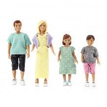 Lundby dukkefamilie m. 2 børn