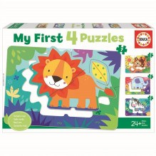 Educa 5-6-7-8 My Jungle Animals puslespil