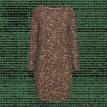Liberte Alma Long kjole – Sand Black Leo