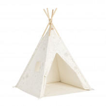 Tiny Republic Tipi Legetelt - Off white m. print