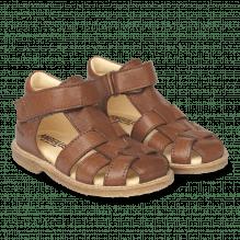 Angulus begynder sandal m. velcrolukning - Cognac