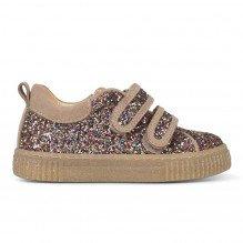 Angulus sneakers m. velcrolukning - Multi Glitter/Sand
