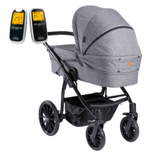 Arden Denmark Supreme Plus Grå Melange + Neonate babyalarm 5800