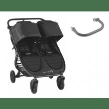 Baby Jogger City Mini GT 2 Double søskendevogn inkl. frontbøjle - Jet