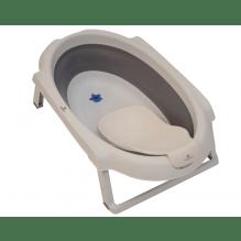 Baby Dan badesæt med 30L foldbart badekar og badestøtte - grå