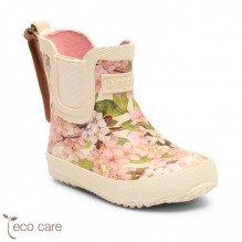 Bisgaard Baby Rubber gummistøvler - creme-flowers