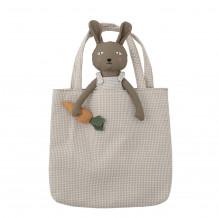 Bloomingville Liten kanin legetøjsbamse - Brun
