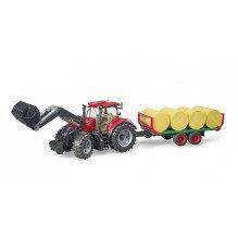 Bruder Case IH Optum 300 CVX traktor m. frontlæsser - 3198