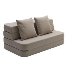 By Klipklap 3 fold sofa - Beige m. sand knap