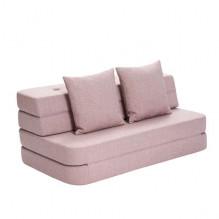 By Klipklap 3 Fold sofa - soft rose m. rose knapper