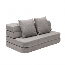 By KlipKlap 3 Fold sofa - Lysegrå