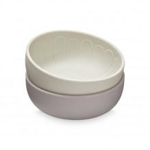 Cam Cam silikone skål 2-pak - Earth Mix