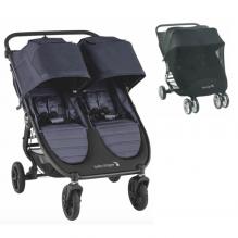 Baby Jogger City Mini GT 2 Double søskendevogn inkl. myggenet - Carbon