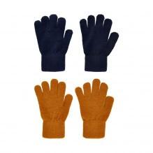 CeLaVi fingervanter i uld 2-pak - Pumpkin Spice