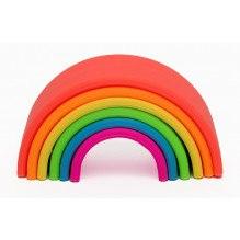 Dëna silikone regnbue, 6 dele - Klare farver
