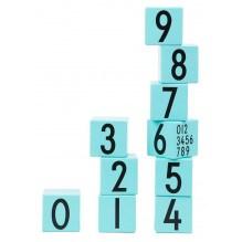 Design Letters tal træklodser - Turkis