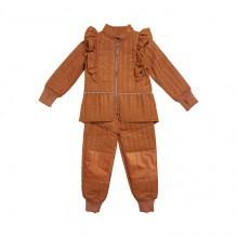 En Fant termotøj m. guld glimmer - Leather Brown