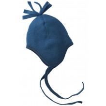 Engel hue i uldfleece - Blue Melange
