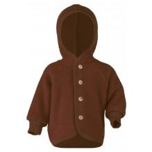 Engel jakke i uldfleece - Cinnamon Melange